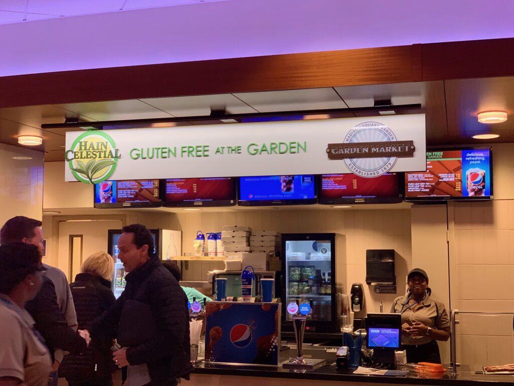 a gluten free restaurant in Madison Square Garden