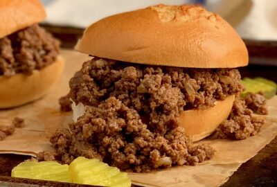 homemade sloppy joe's in a bun