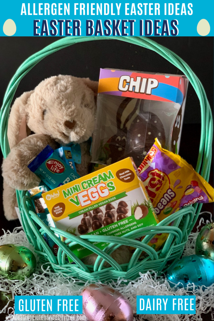 Several Easter treats in a basket.
