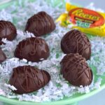 Several homemade Reese's peanut butter cups