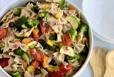 Veggie Pasta salad in a bowl