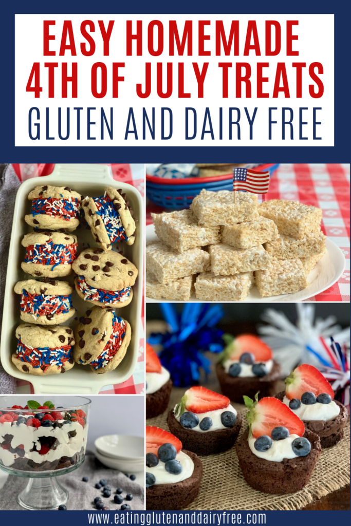 Several different 4th of July desserts
