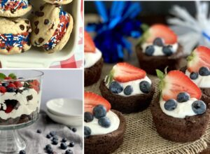 Different 4th of July desserts