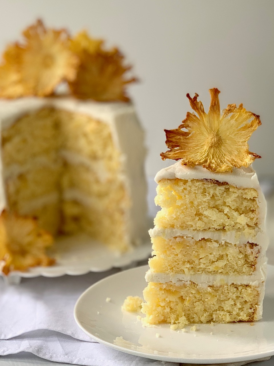 Pineapple Cake Eating Gluten And Dairy Free