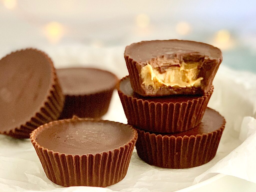 A stack of peanut butter cups