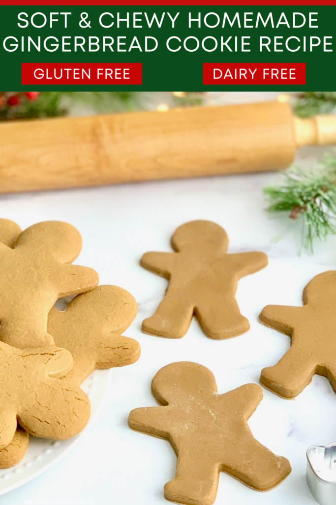 A plate full of baked gingerbread cookies and 3 cookies rolled out and ready for the oven.