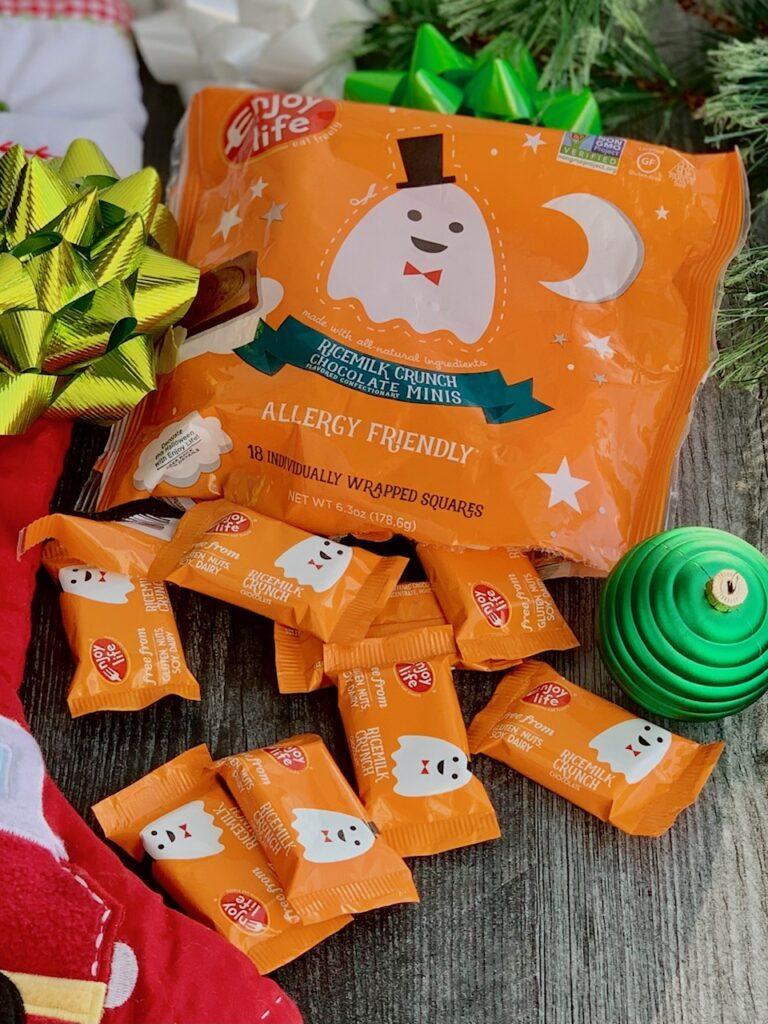 A bag of mini Enjoy Life candies