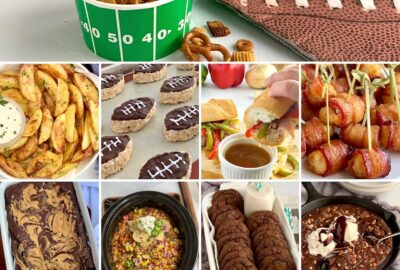A collage of different recipes featured in this recipe round up.